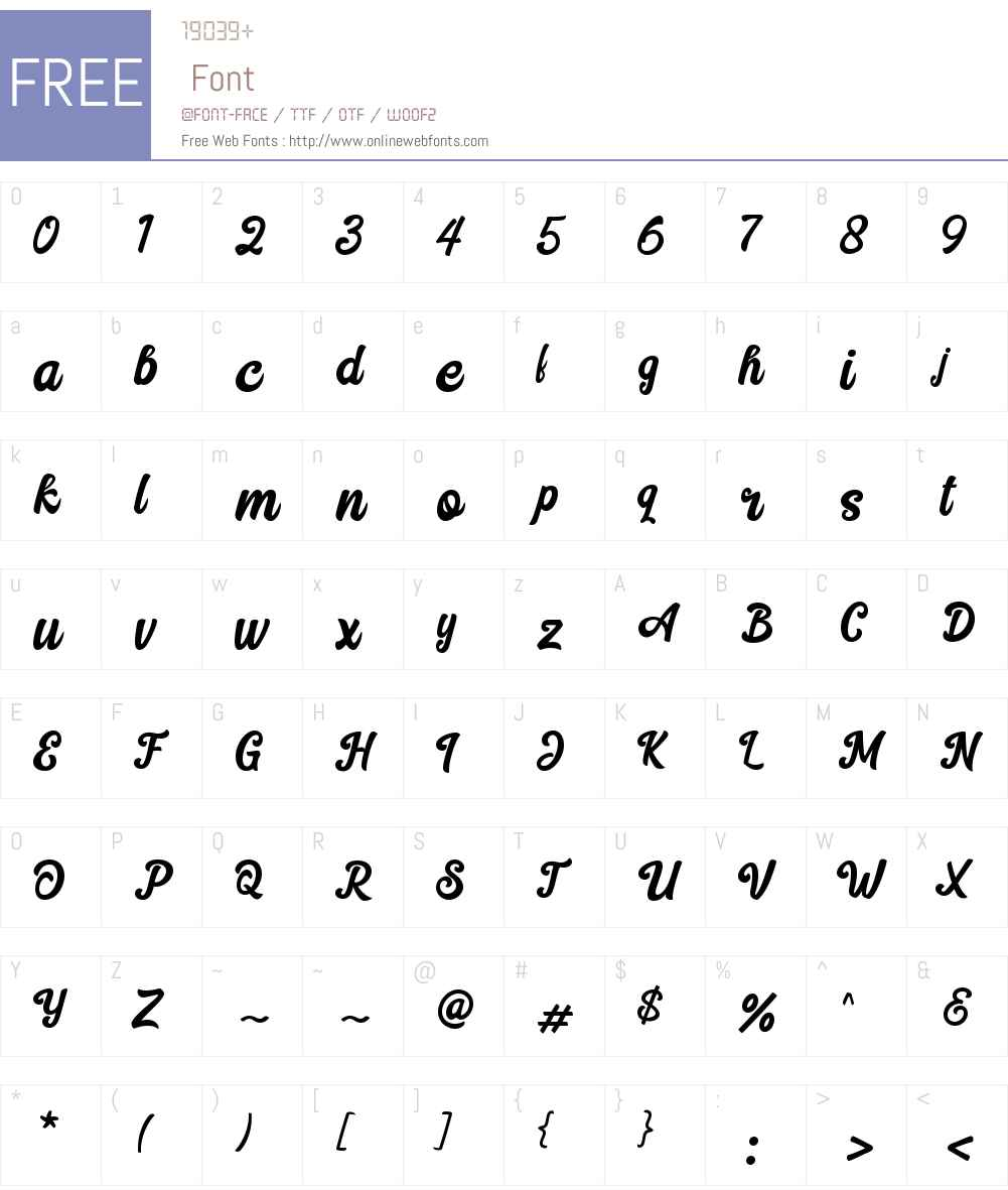 Hilton Script Font Screenshots