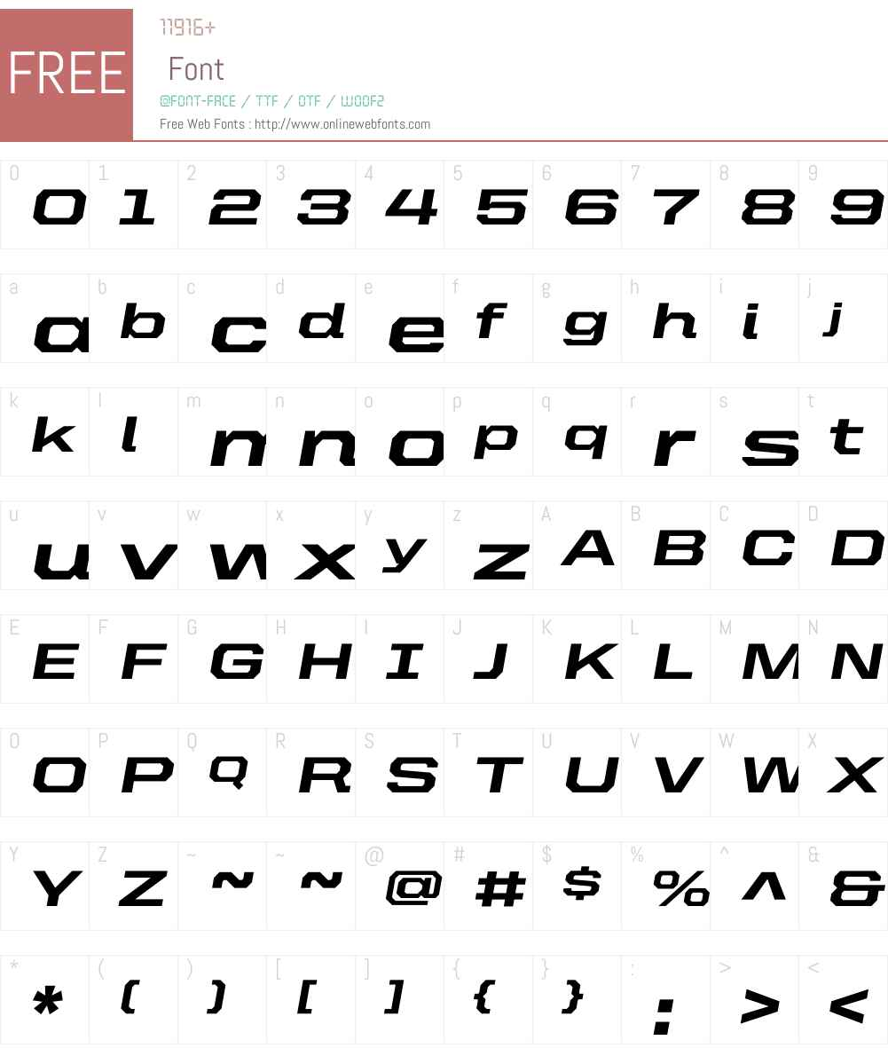 United Italic Ext Font Screenshots