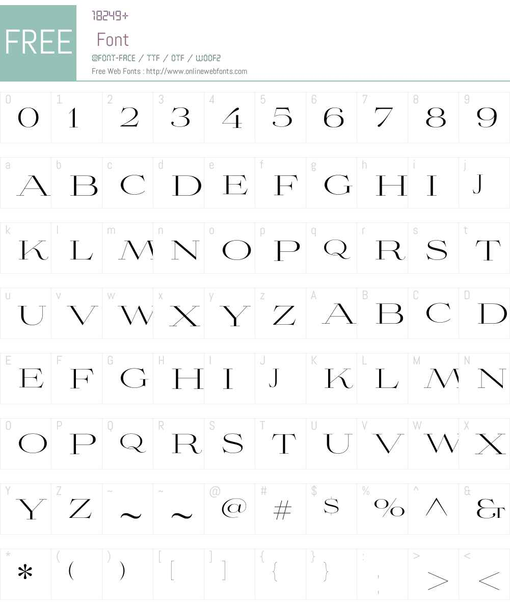 Aviano Didone Light Font Screenshots