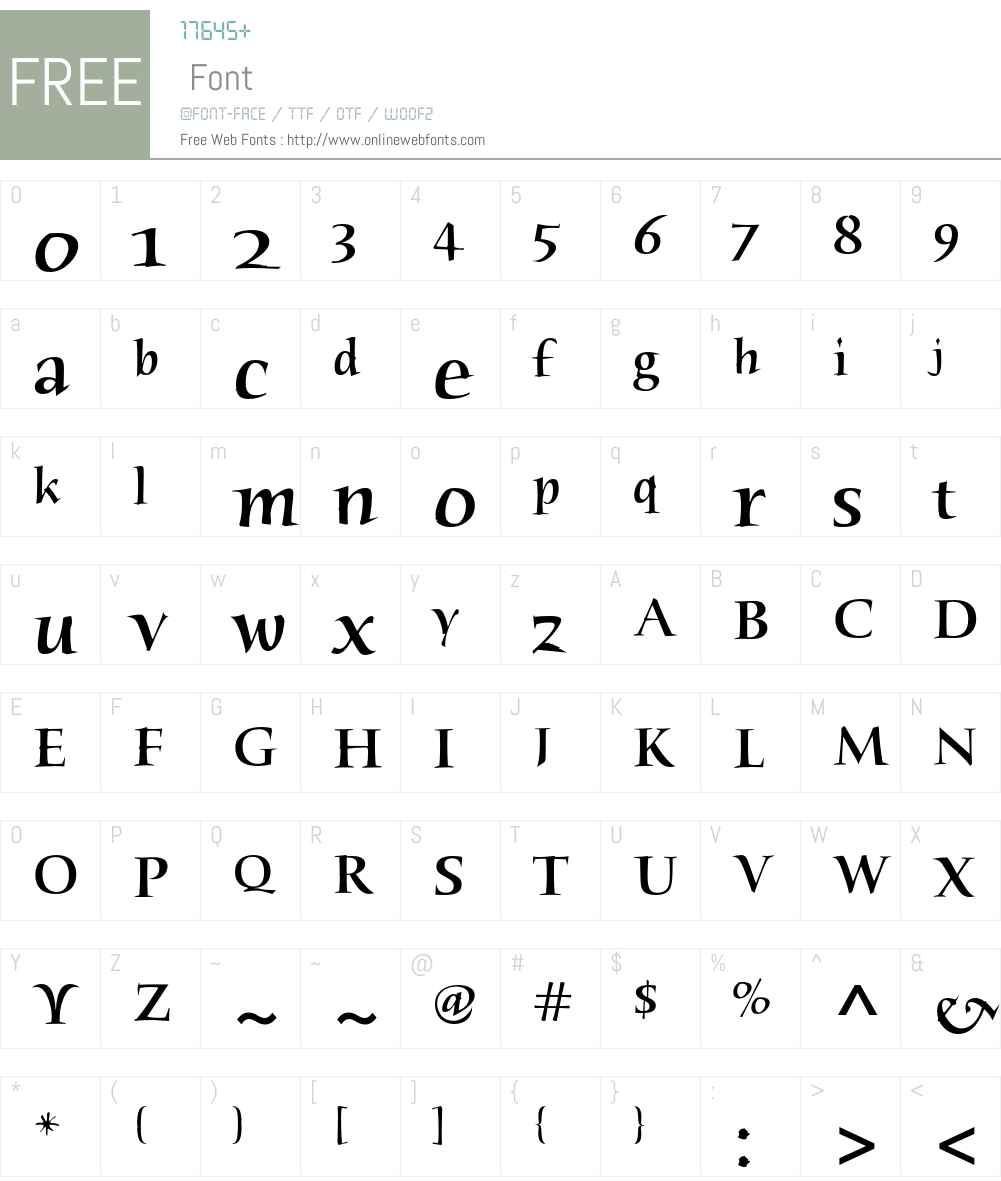 Humana Serif ITC Std Font Screenshots