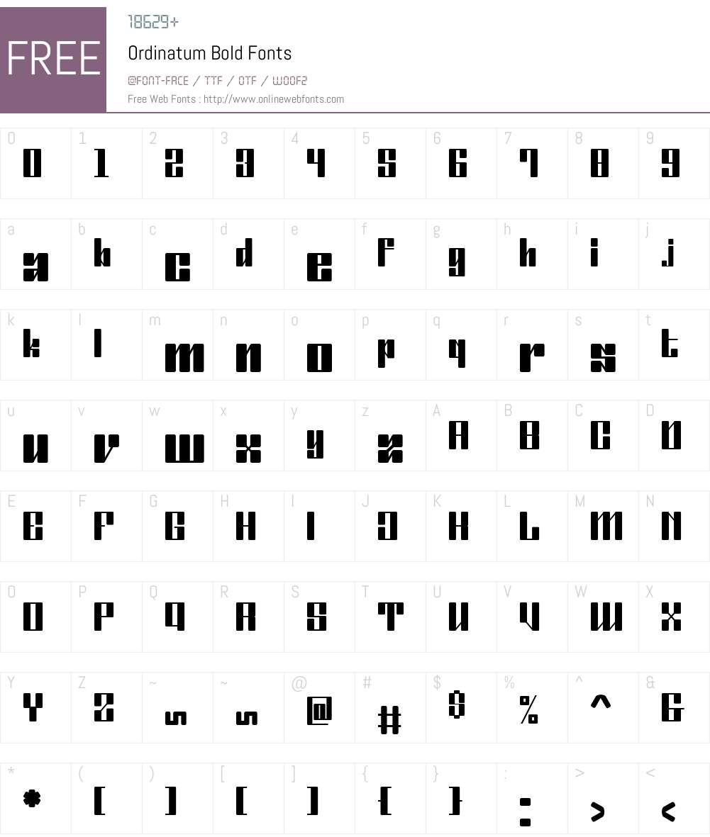 Ordinatum Bold Font Screenshots