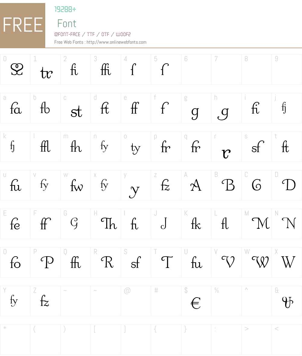 OdetteAlt Font Screenshots