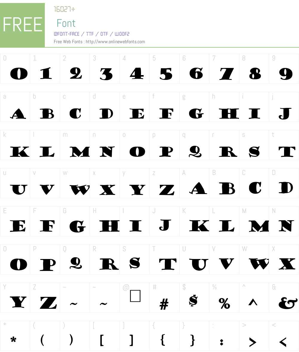 Frisky Font Screenshots