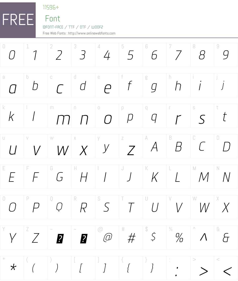 MetronicProCondensedW01-AirIt Font Screenshots