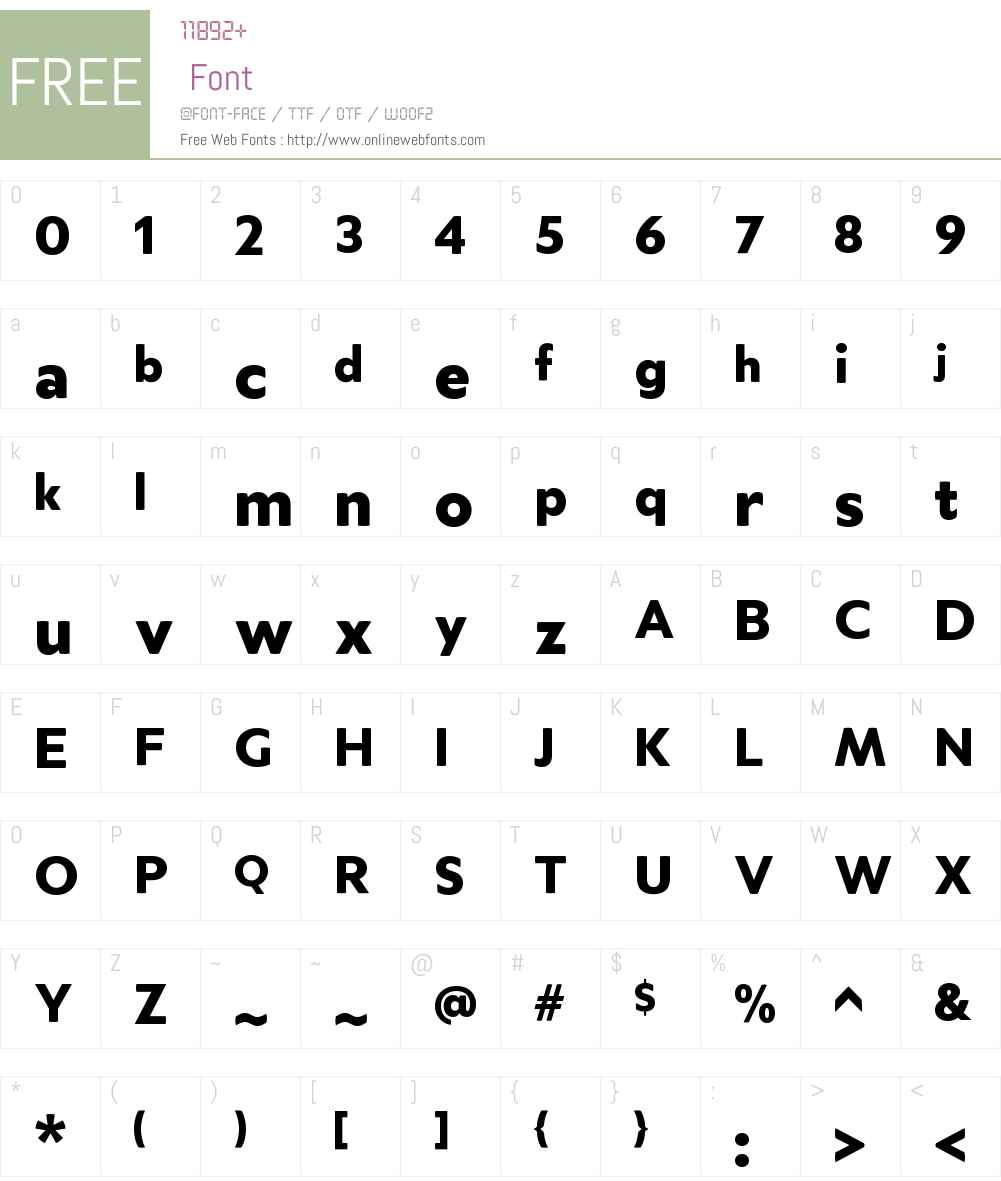 MerelW00-Black Font Screenshots