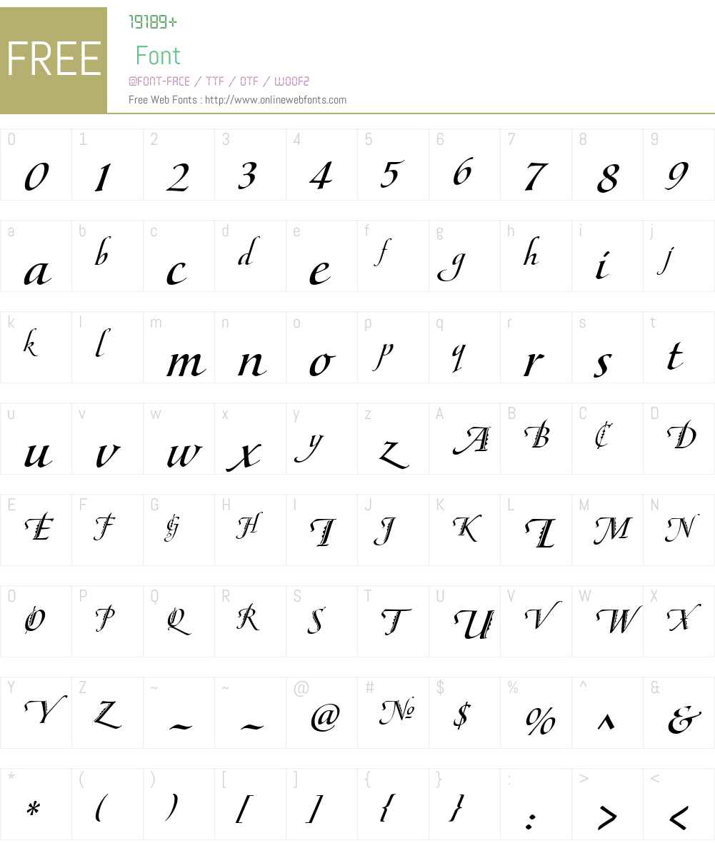 MaestroW01-IBold Font Screenshots