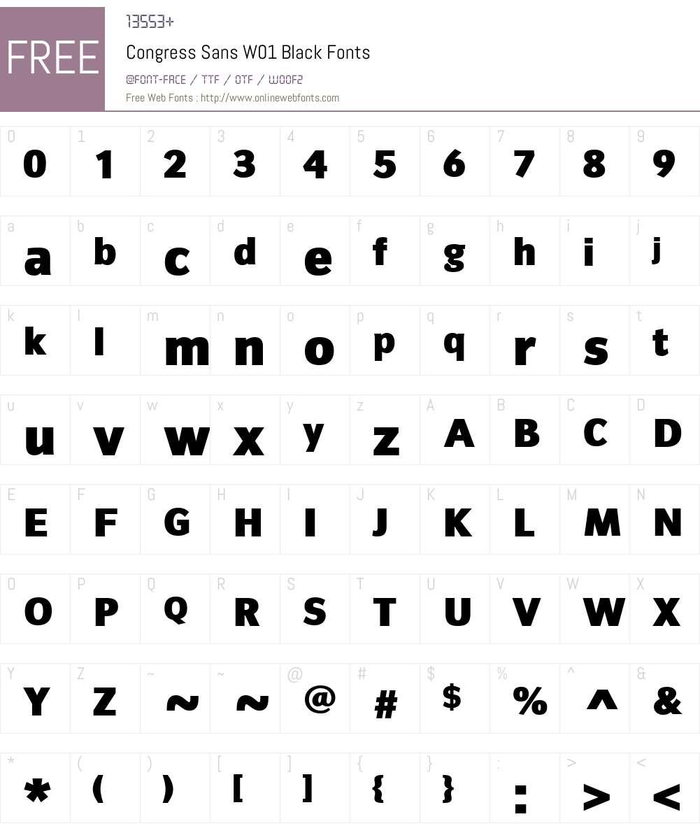 CongressSansW01-Black Font Screenshots
