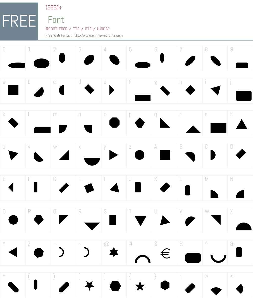 Shape Blocks Solid Font Screenshots