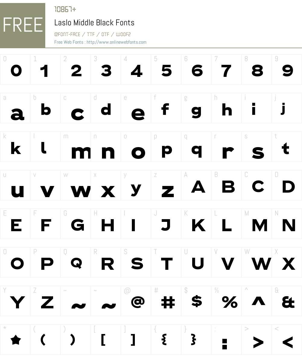 Laslo Middle Black Font Screenshots