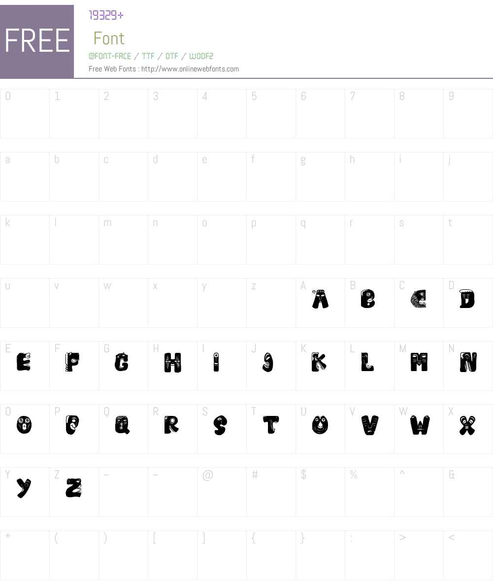 Facelook Font Screenshots