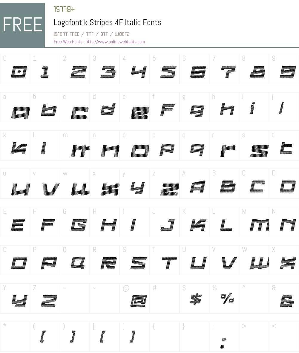 Logofontik 4F Font Screenshots