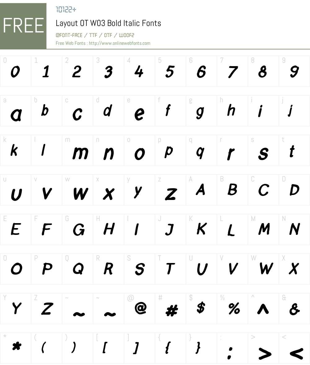 FF Layout Font Screenshots
