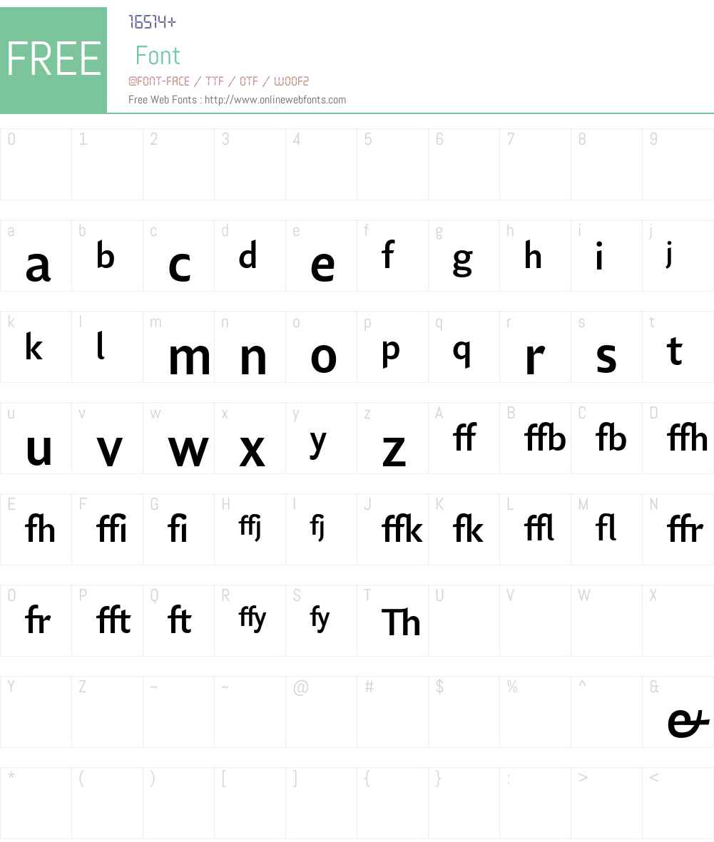 Lisboa Sans Ligatures Font Screenshots