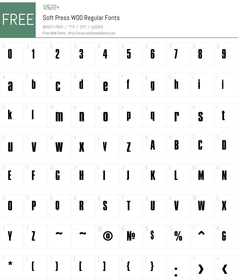 SoftPressW00-Regular Font Screenshots