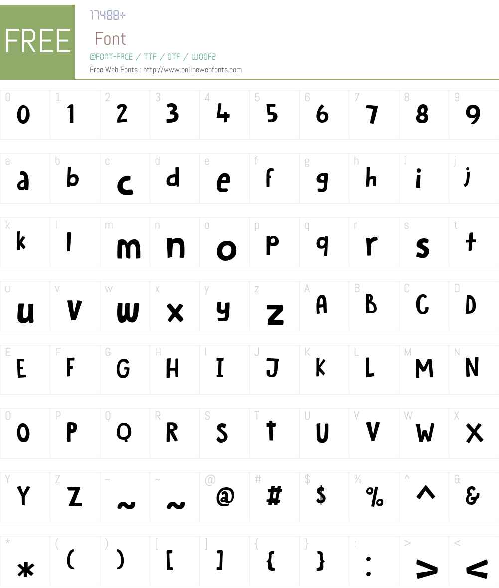 HobgoblinW00-Regular Font Screenshots