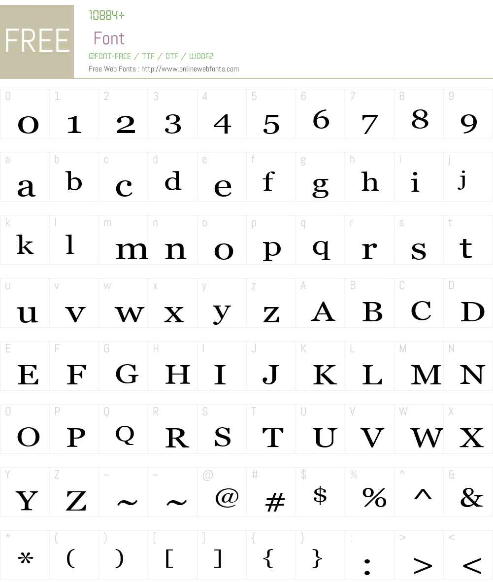A Perfect Circle Font Screenshots