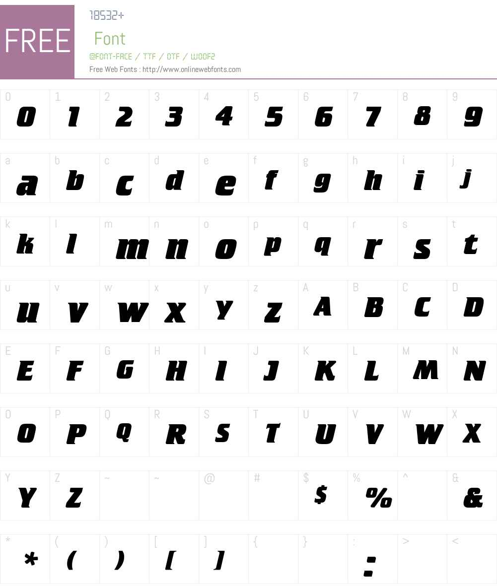 CrilleeEF Font Screenshots