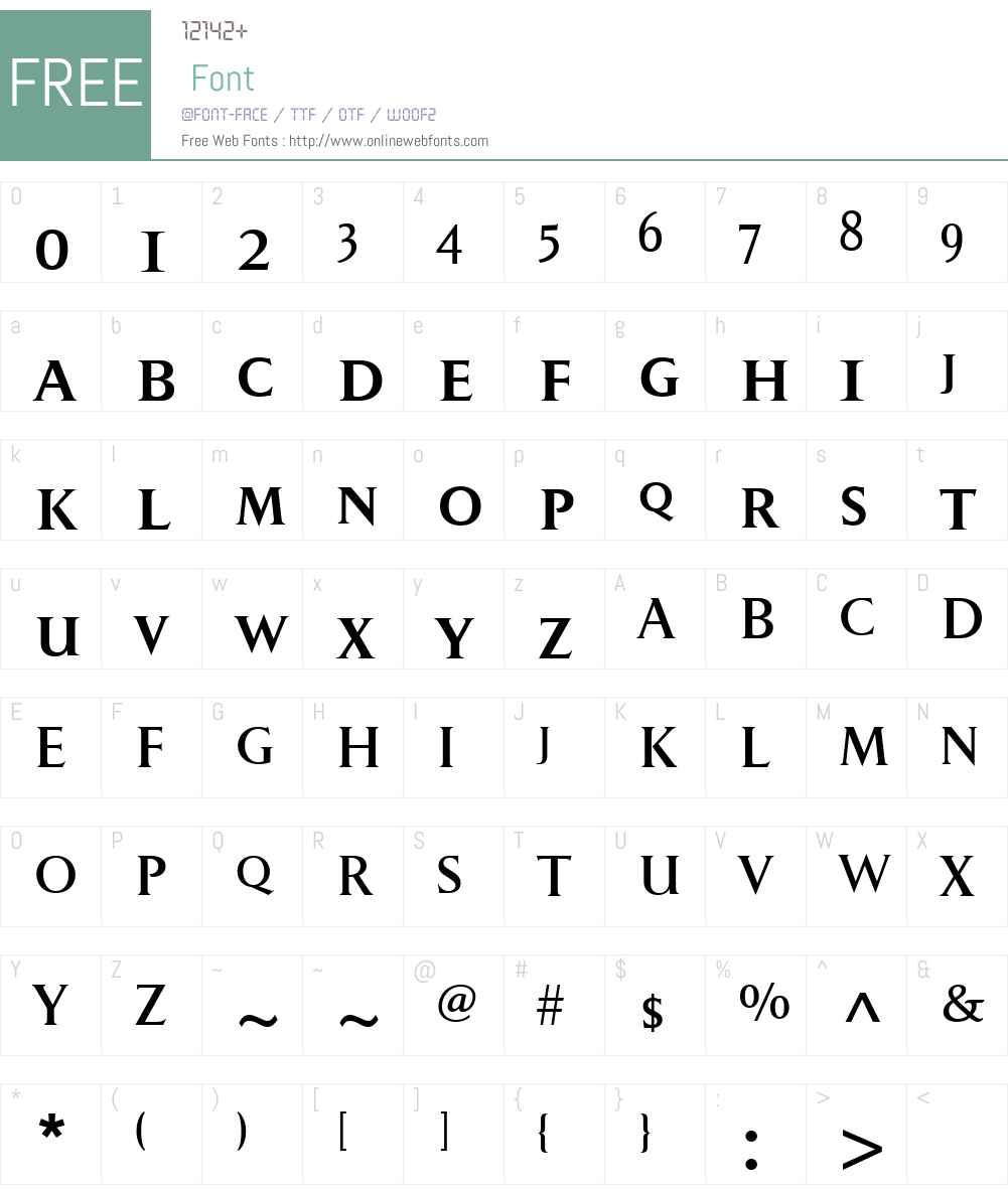 PompeiNewW00-SmallCaps Font Screenshots