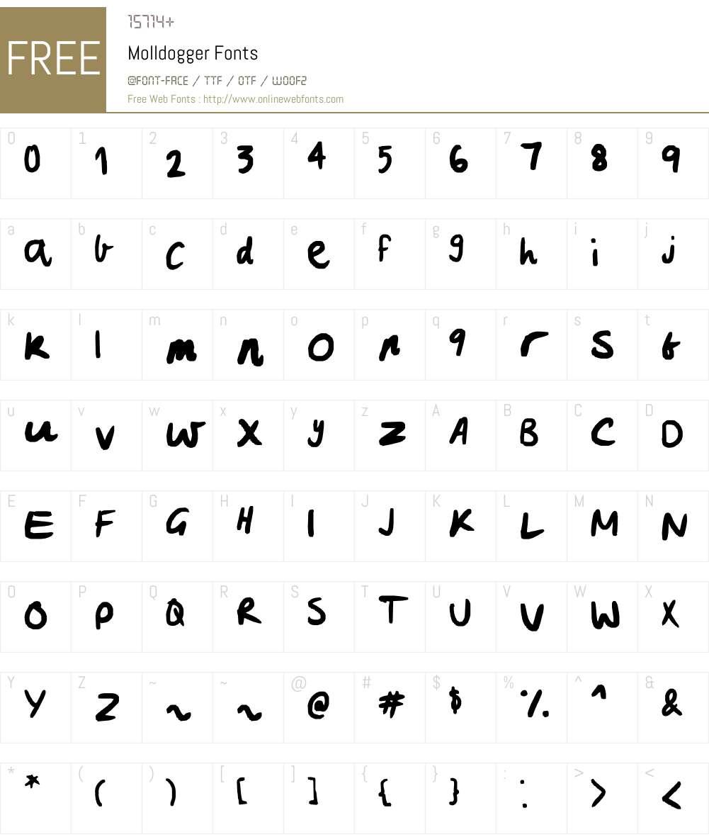 Molldogger Font Screenshots
