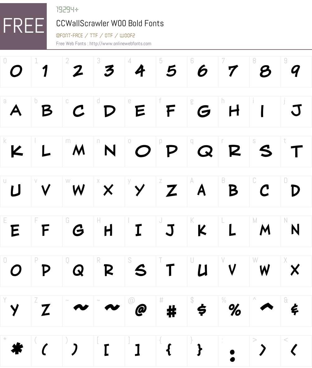CCWallScrawlerW00-Bold Font Screenshots