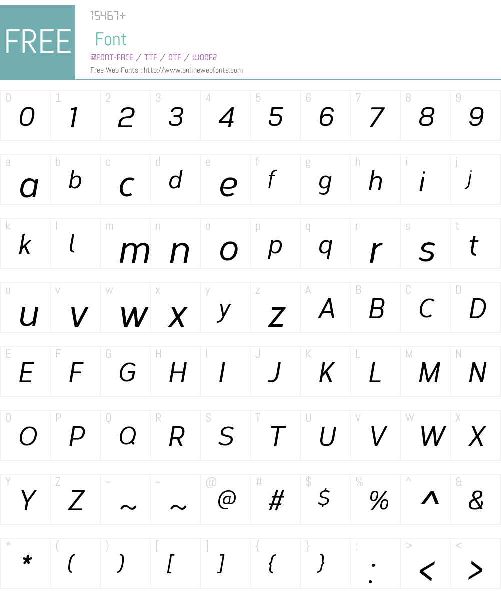 CorbertCondensedW00-MdIt Font Screenshots