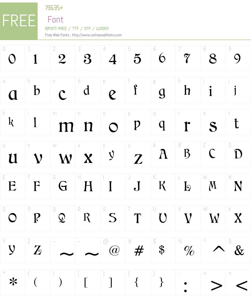 CAT Childs Font Screenshots