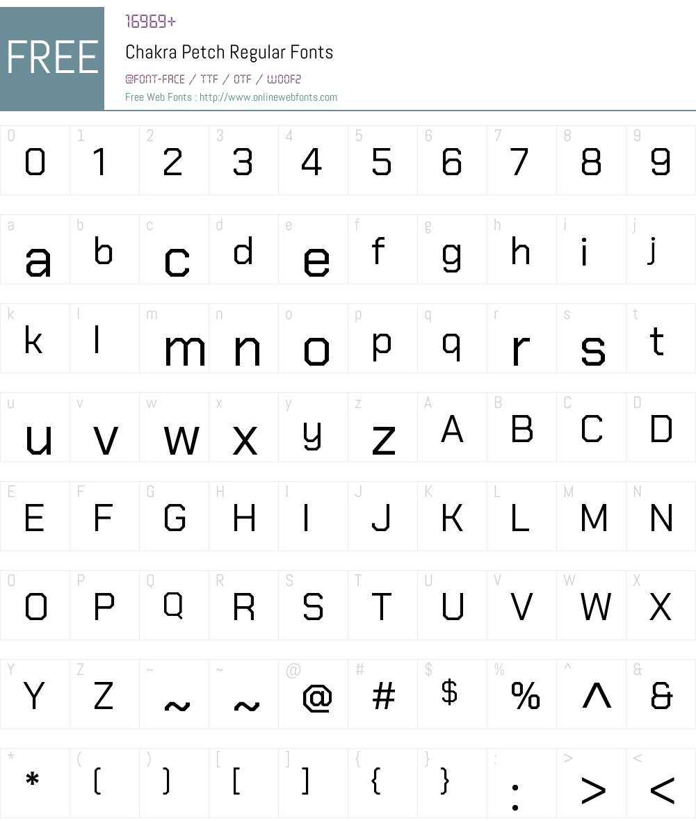 Chakra Petch Font Screenshots