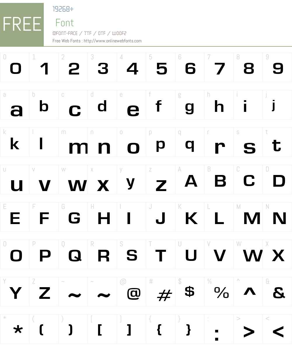 GardenwayExt-Bo Font Screenshots