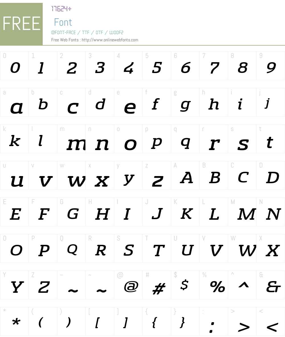 SancoaleSlSfW01-ExtMediumIt Font Screenshots