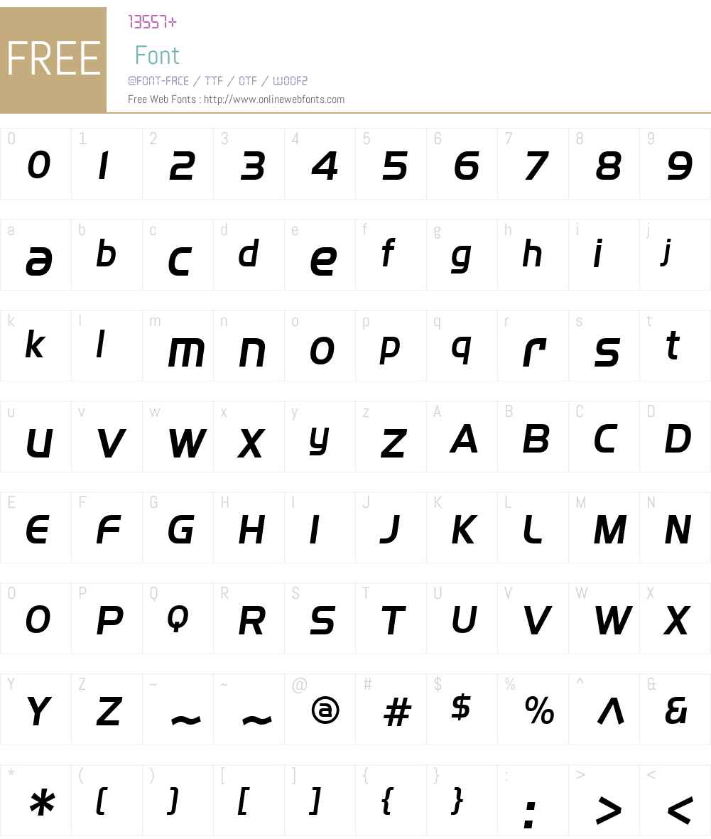 SF Fourche Font Screenshots