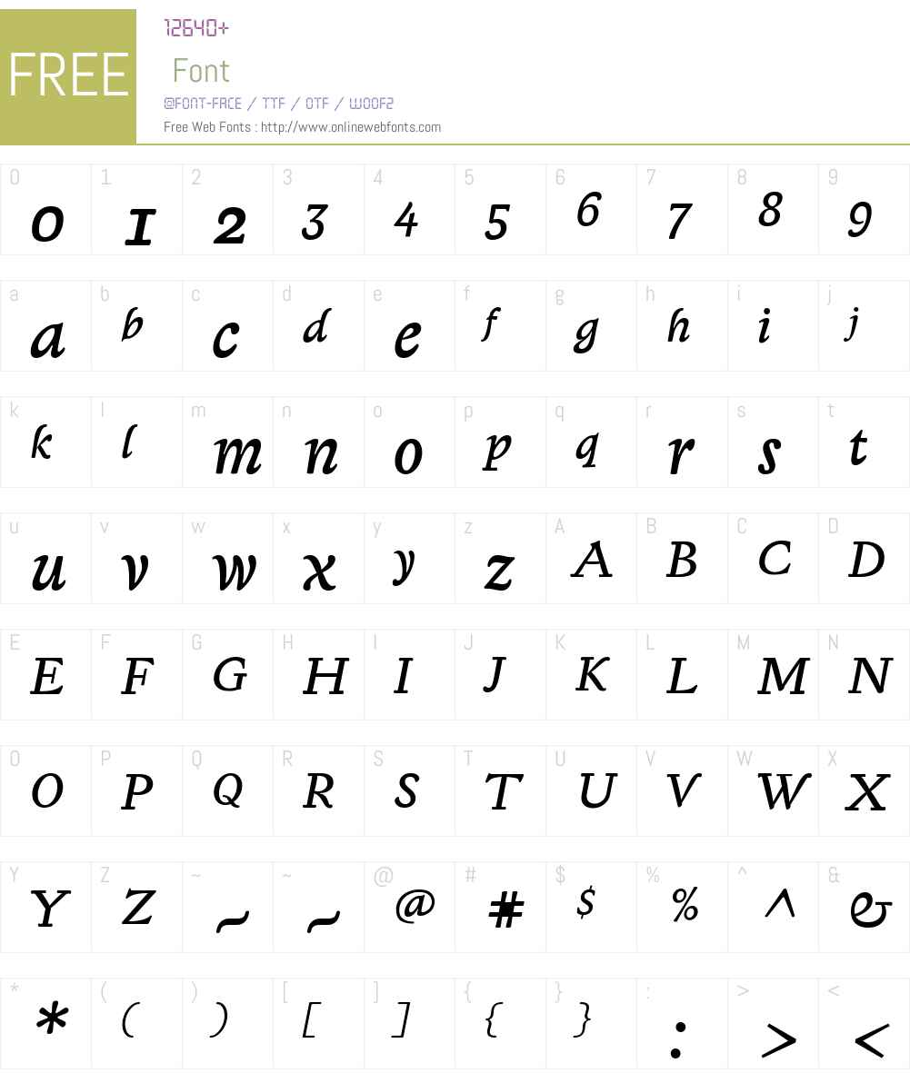 Lexicon Gothic Sans Font Screenshots