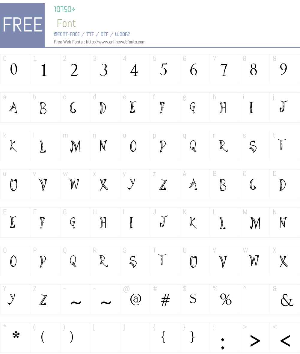Bright Star Tonight Font Screenshots