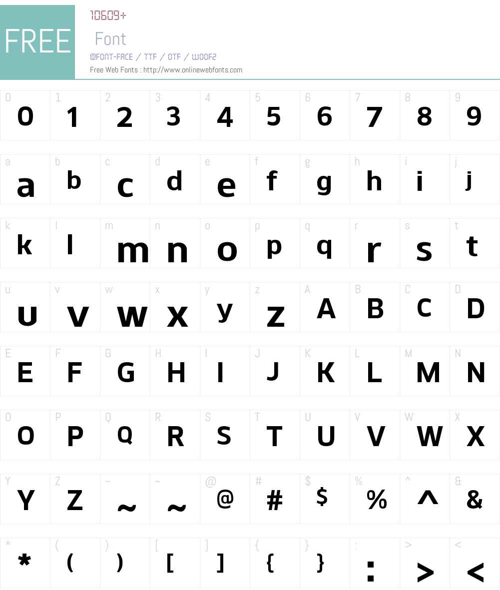KobernW00-Bold Font Screenshots