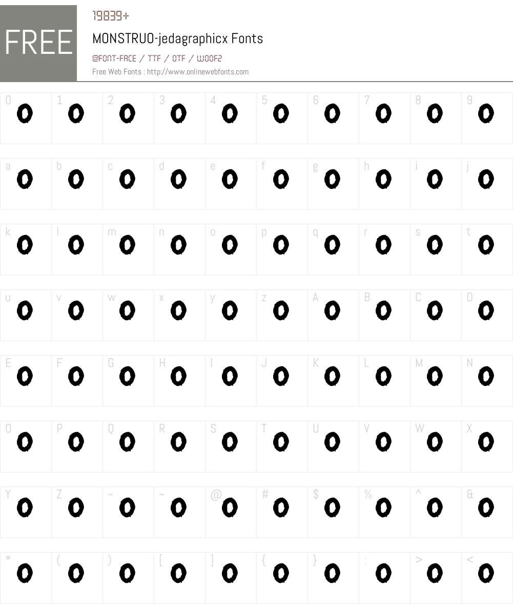 MONSTRUO-jedagraphicx Font Screenshots