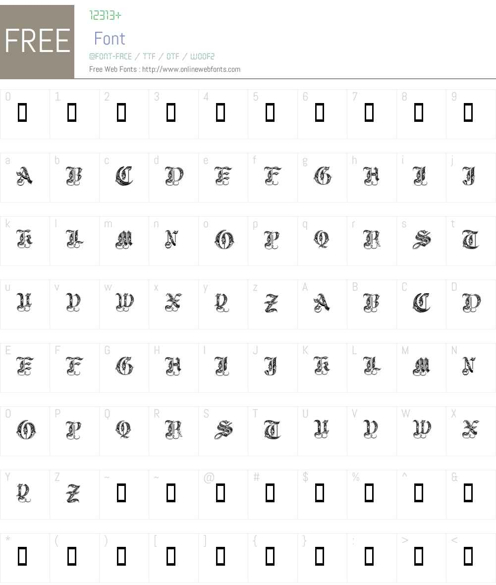 Royal Initialen Font Screenshots