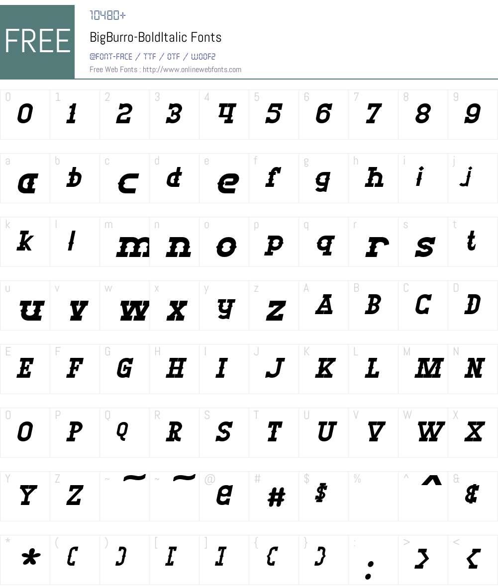 Big Burro Font Screenshots