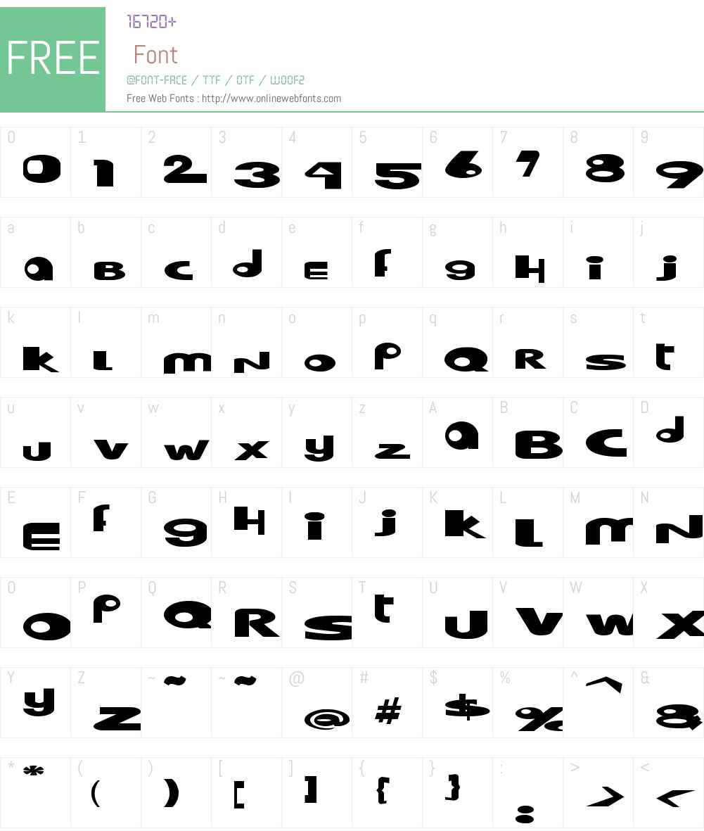 Hooper dooper Font Screenshots