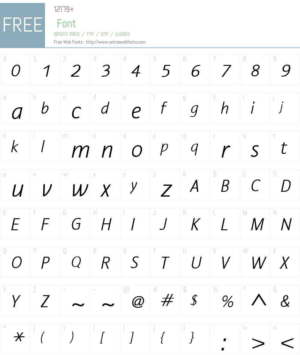 NautilusMonolineLTW01-LtIt Font Screenshots