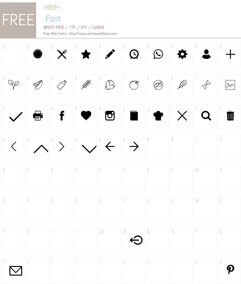 Simply-V-HappyFood Font Screenshots