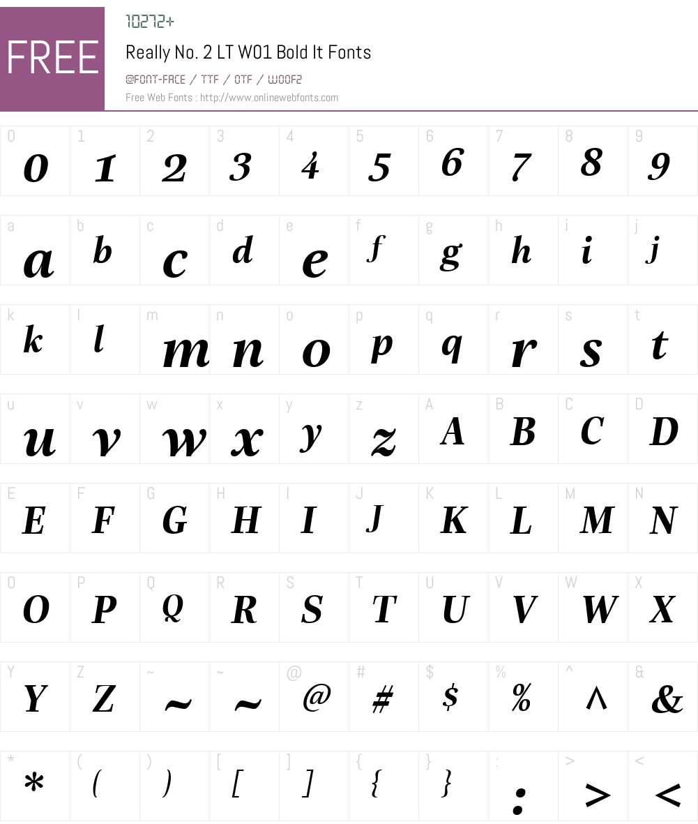 ReallyNo.2LTW01-BoldIt Font Screenshots