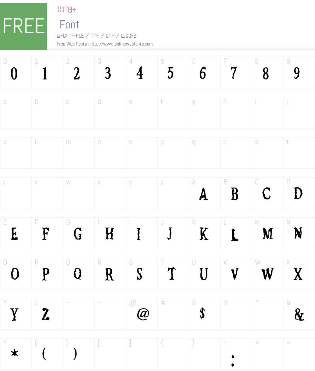 Jilted Font Screenshots