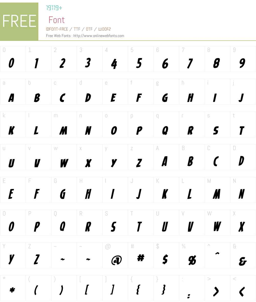 SecretOriginsBBW00-Italic Font Screenshots