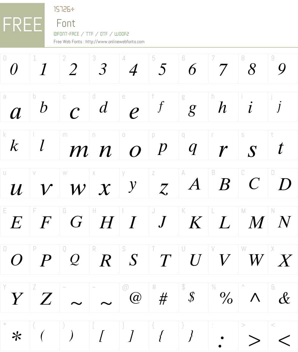Times Ten Cyrillic Font Screenshots