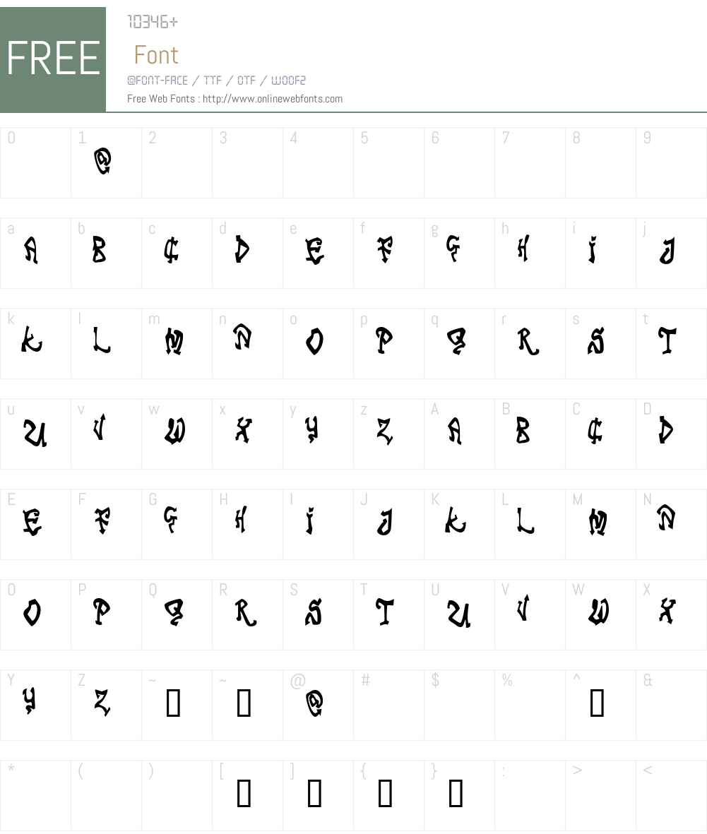 Tribal Funk Font Screenshots