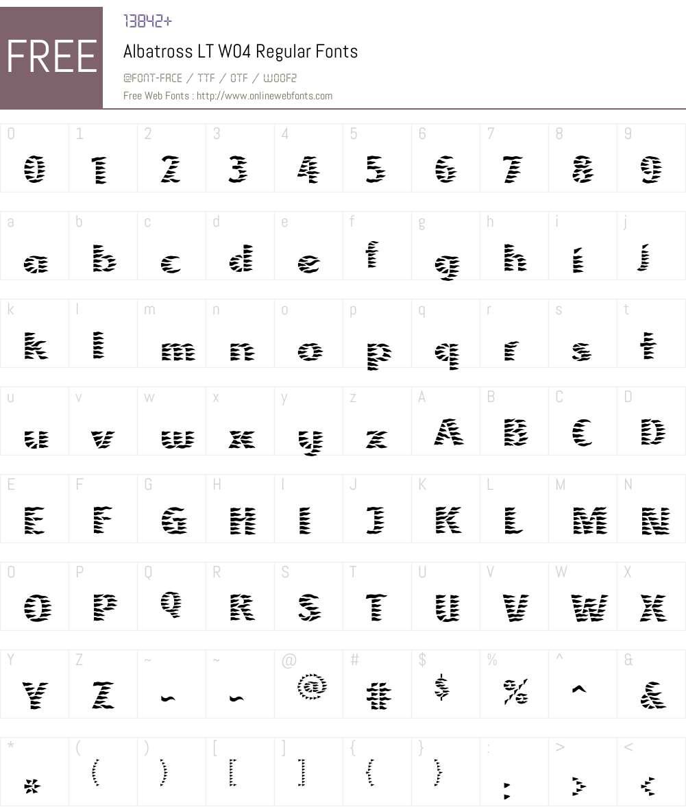 Linotype Albatross Font Screenshots