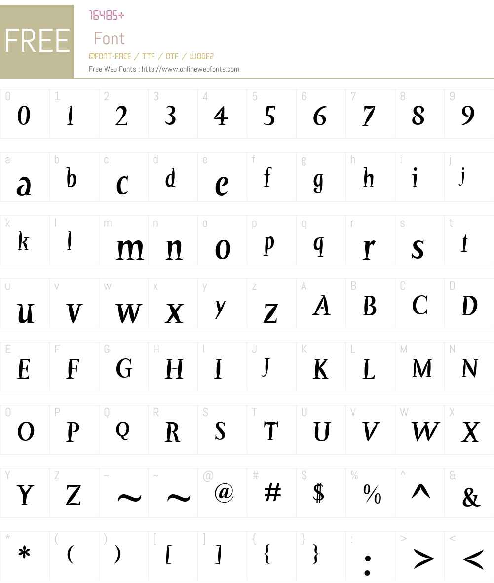 BarracudaW01-Regular Font Screenshots