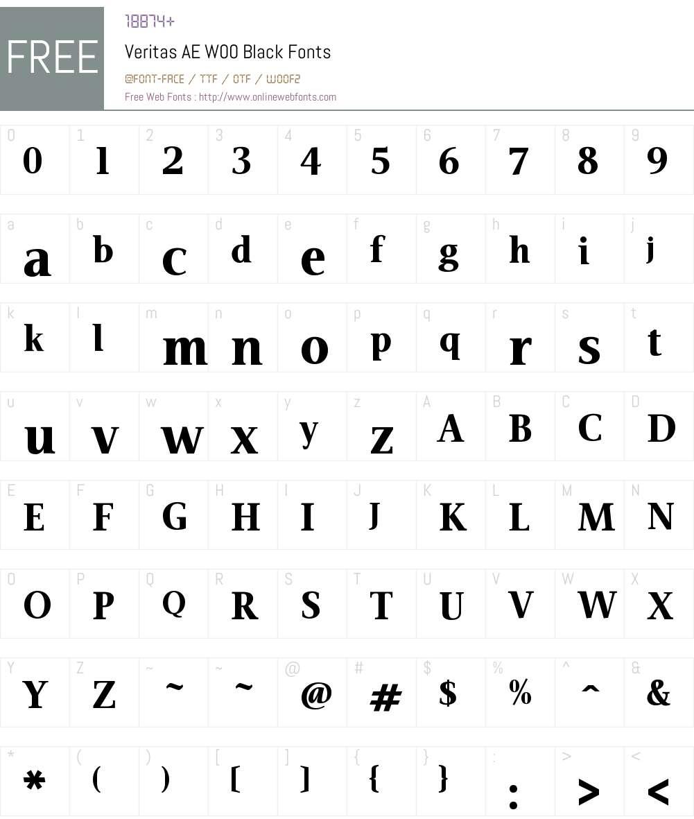 VeritasAEW00-Black Font Screenshots
