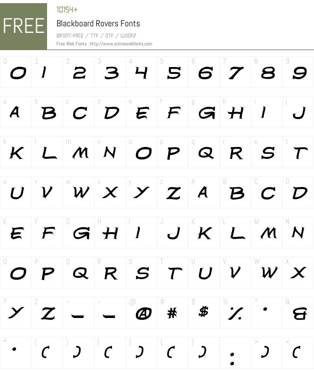 Blackboard Rovers Font Screenshots
