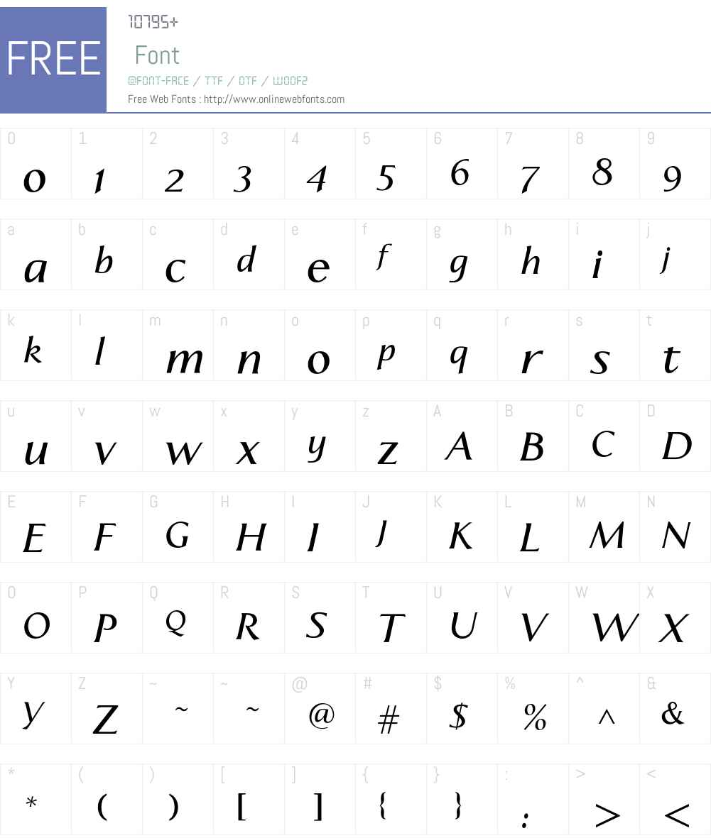 Aperto Font Screenshots