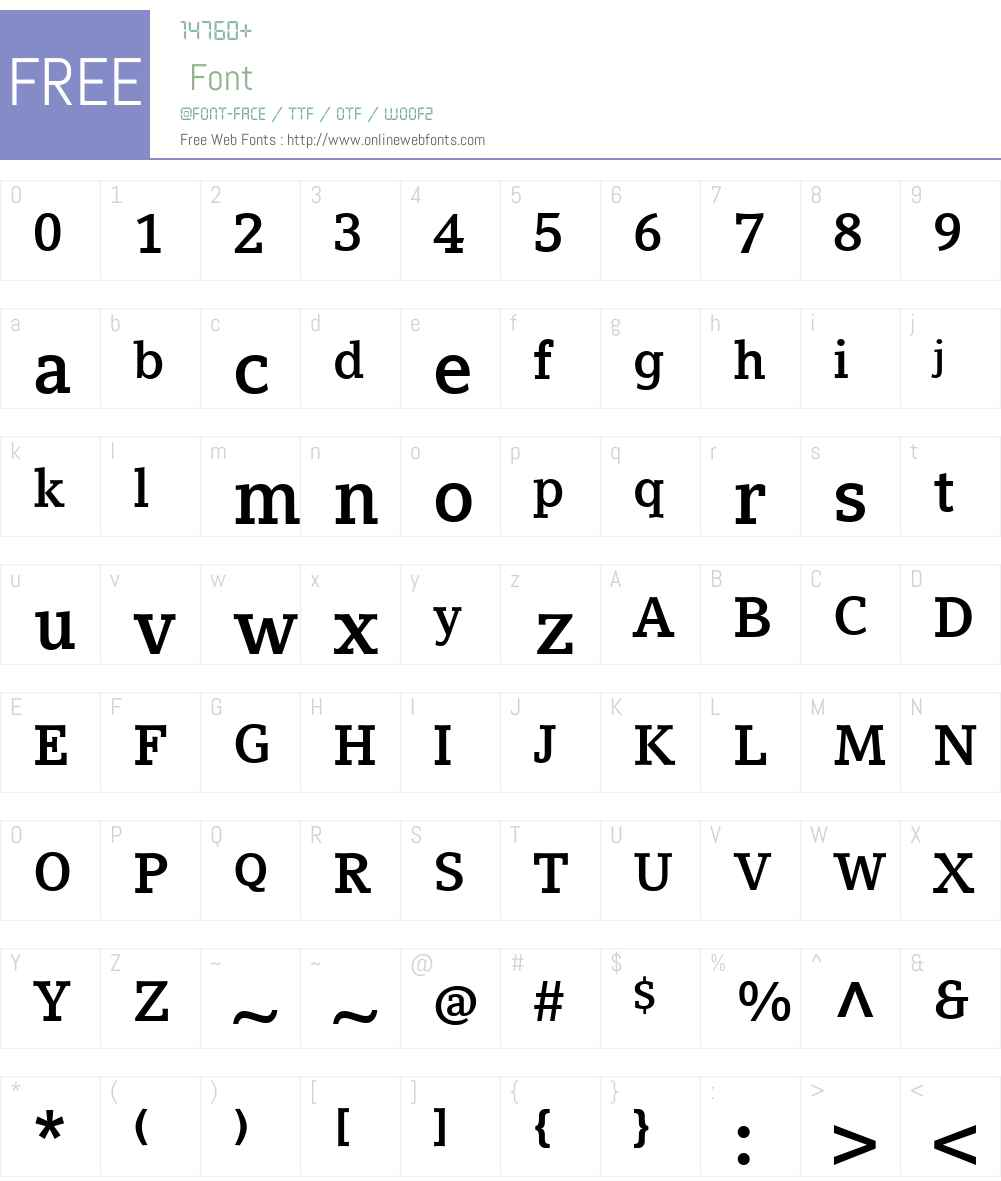 Compatil Letter Font Screenshots